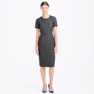 J.Crew Navy Zip Shoulder Super 120s Wool Dress